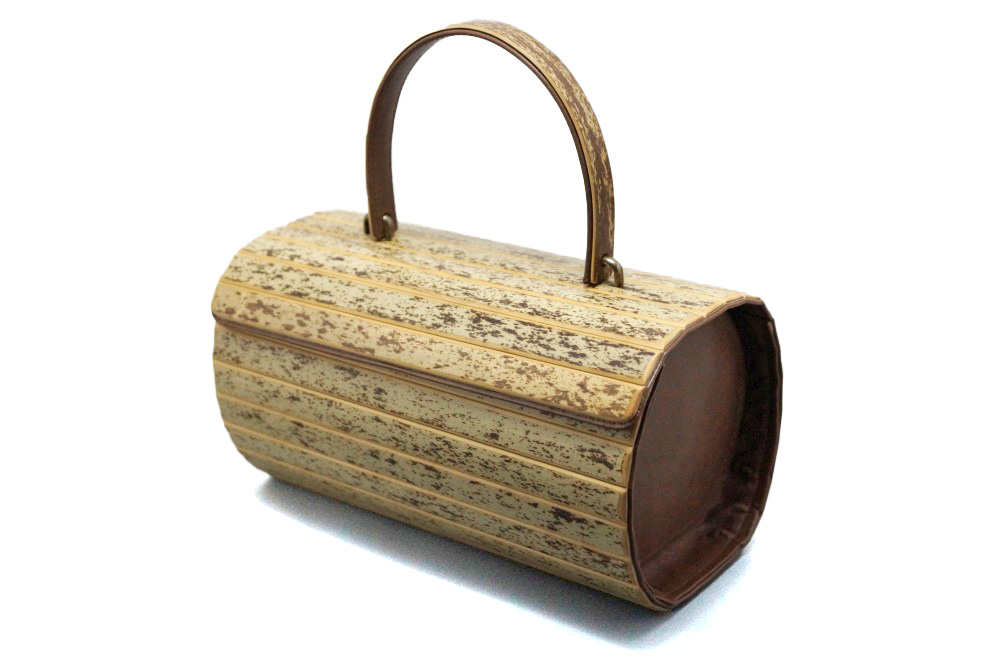 Round Handbag Tiger Bamboo