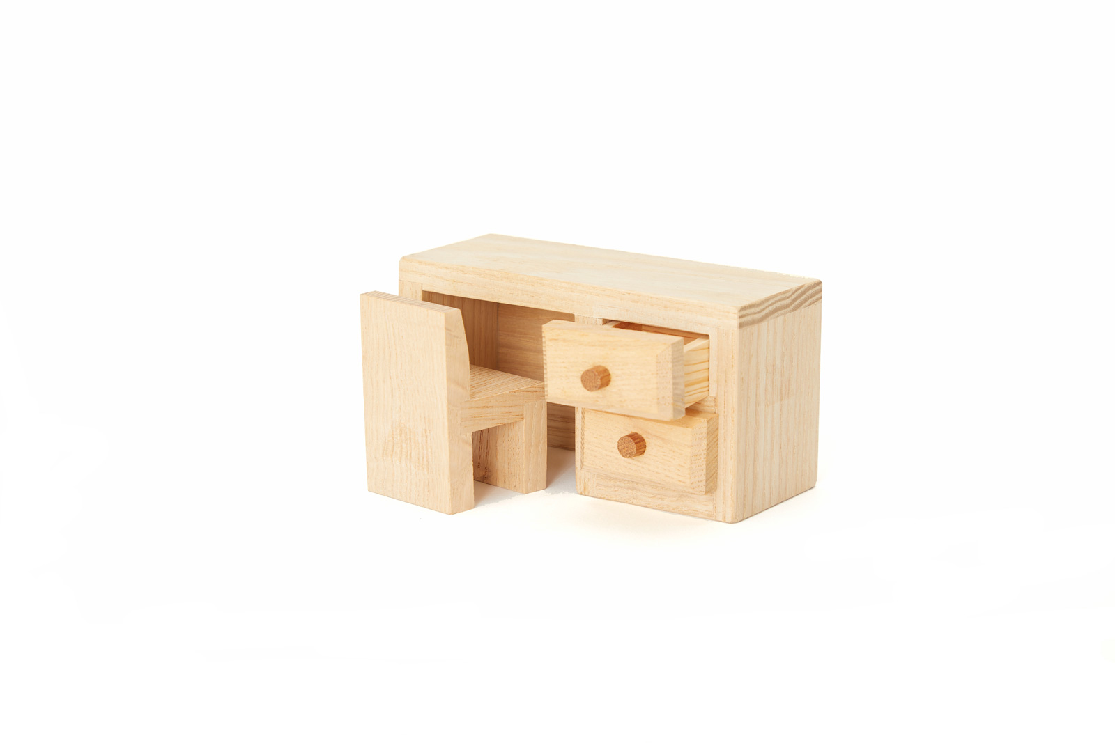 Toy Desk (All-Natural Wood)
