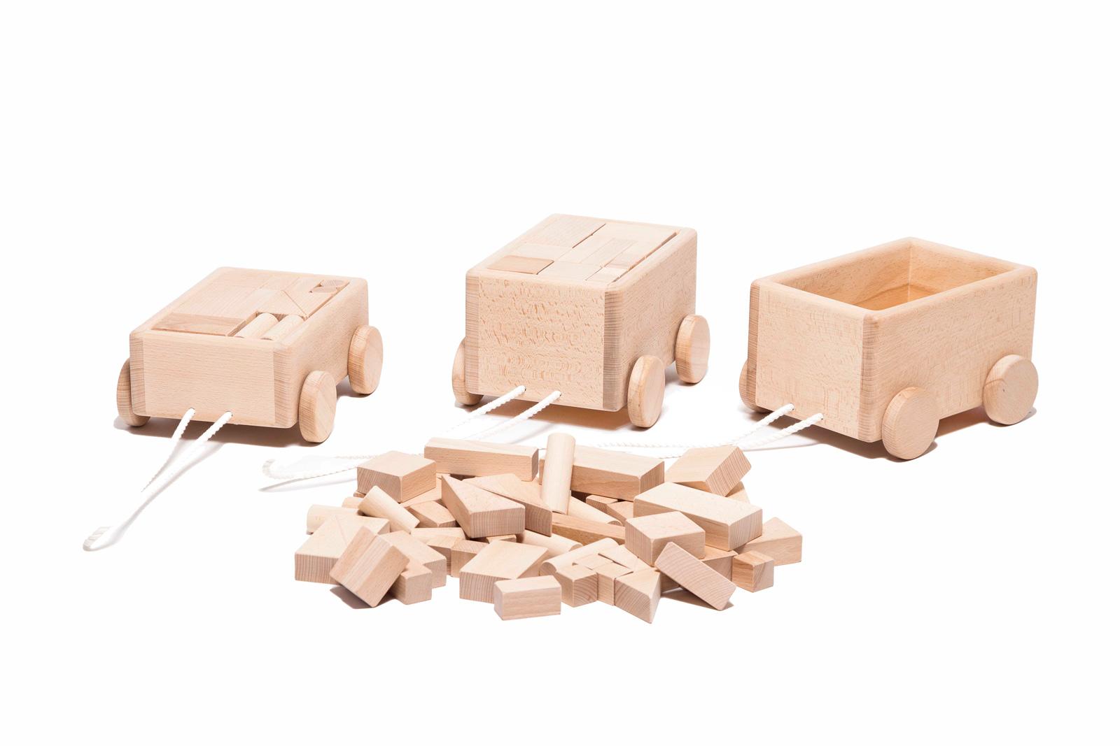 All-Natural Wooden Building Blocks (25 Piece Set)