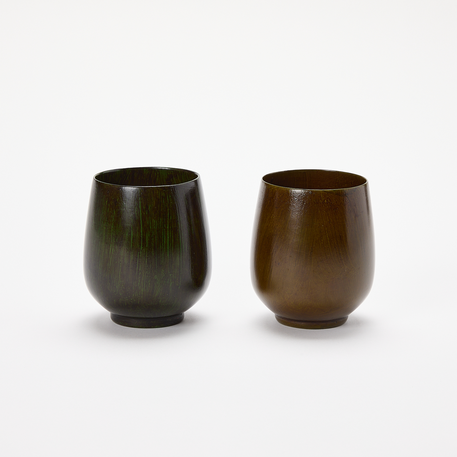 Lacquered Wood Cup – Set of 2